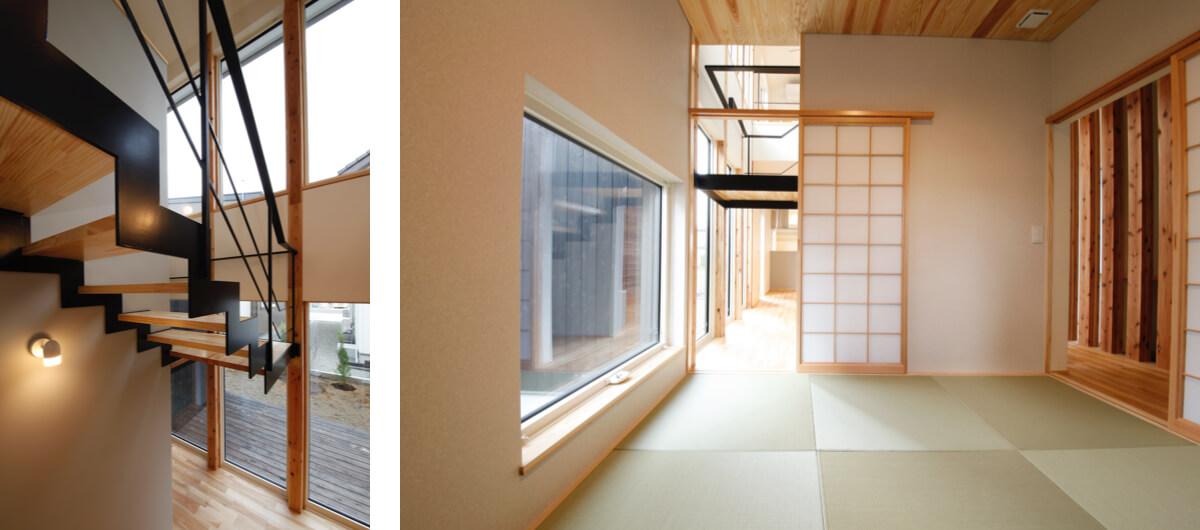 AKITA×DESIGN STANDARD300 モデルハウス 階段 和室