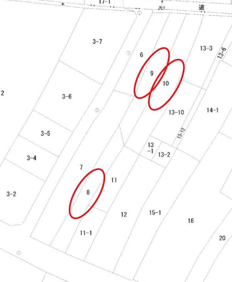 秋田県にかほ市象潟町字二丁目塩越‗住宅用地‗公図