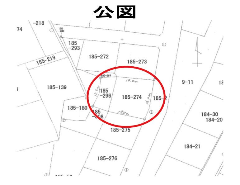 秋田県・にかほ市象潟町字上狐森 土地 宅地 現地公図