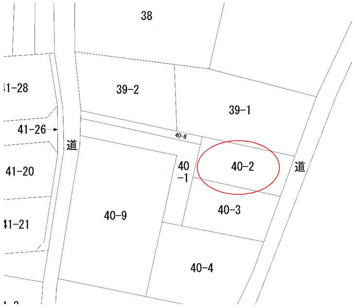 秋田県由利本荘市西小人町 土地 宅地 公図