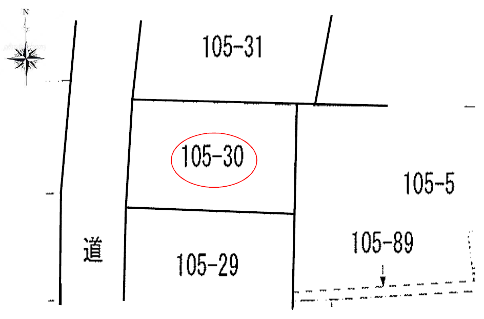 秋田県にかほ市金浦字塩焚浜 土地 宅地 公図