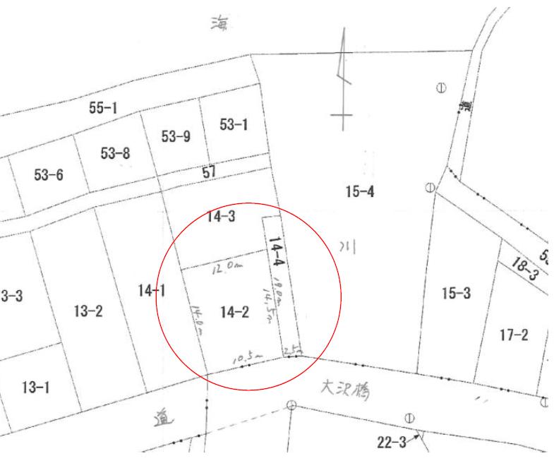 秋田県にかほ市平沢字長磯 土地 宅地 公図