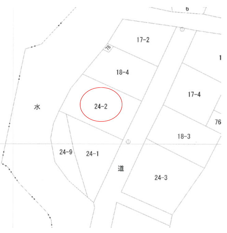 秋田県にかほ市平沢字鳥ノ子渕 土地 宅地 公図
