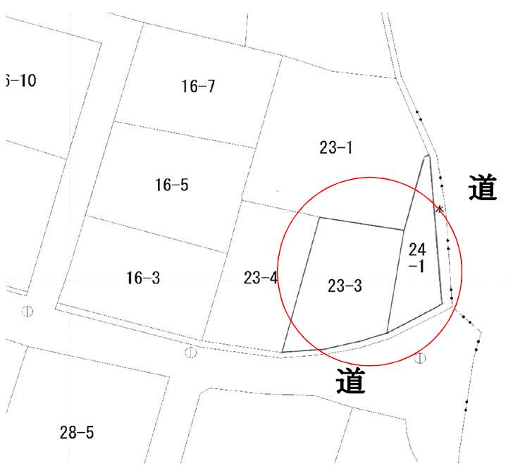 秋田県にかほ市平沢字家ノ後 土地 宅地 公図