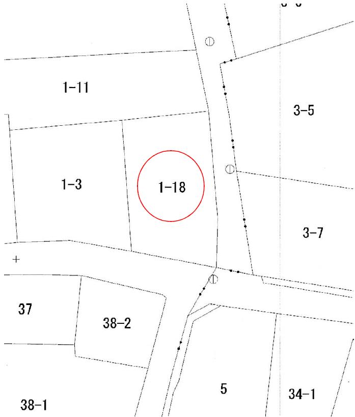 秋田県にかほ市象潟町字二ノ丸 土地 宅地 公図