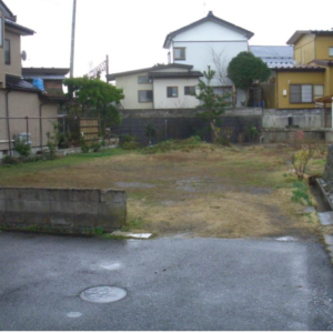 秋田県にかほ市平沢字新町 土地 宅地 現地外観写真