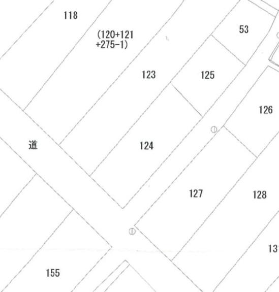 秋田県にかほ市象潟町字二丁目塩越124番 土地 宅地 公図