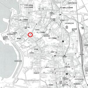 秋田県にかほ市象潟町字二丁目塩越124番 土地 宅地 所在地案内図