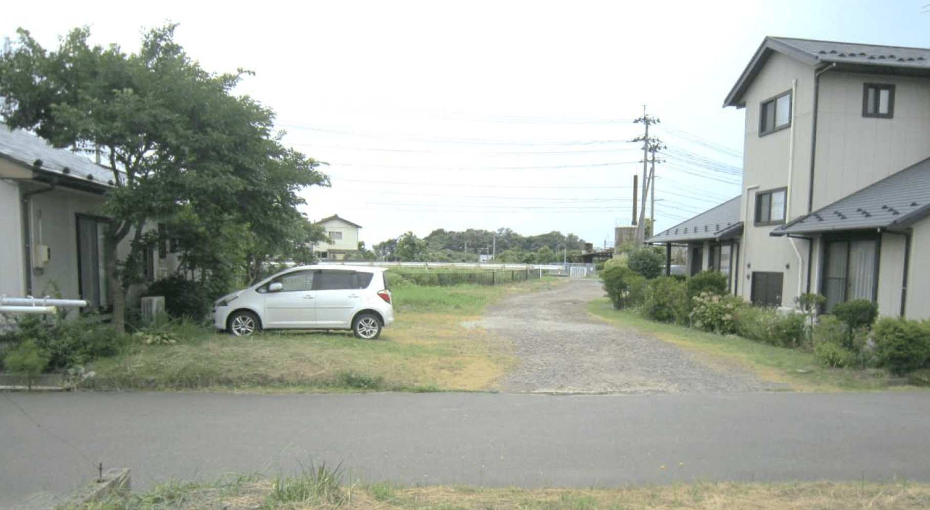 秋田県にかほ市平沢字鳥ノ子渕 土地 宅地 現地外観写真