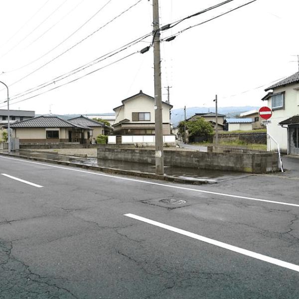 秋田県にかほ市平沢字新町 土地 宅地 No.N1024 現地外観写真