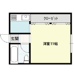 【秋田県・にかほ市平沢字新町】賃貸 アパート 1K アーバンハウス 間取り図