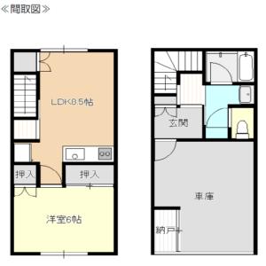 秋田県にかほ市両前寺字谷地 賃貸 アパート 1LDK