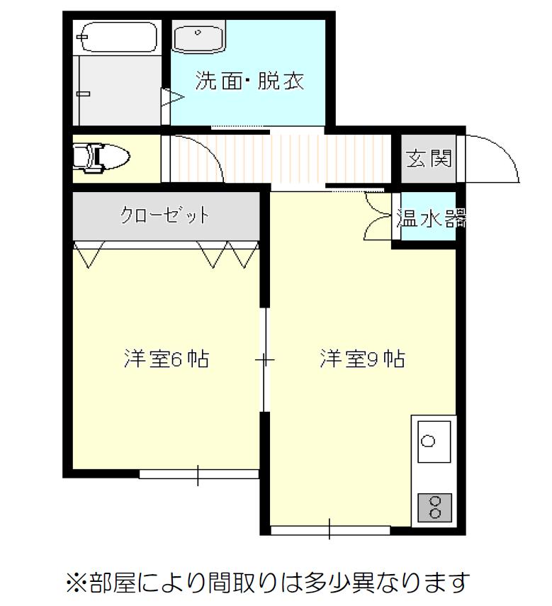 秋田県にかほ市平沢字清水尻 賃貸 レーヴ・ド・フロレゾン 間取り図