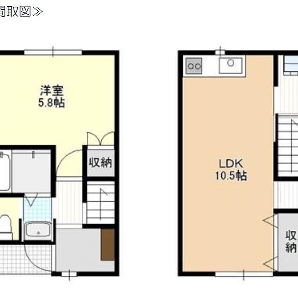 秋田県にかほ市平沢字古里 賃貸 アパート 1LDK