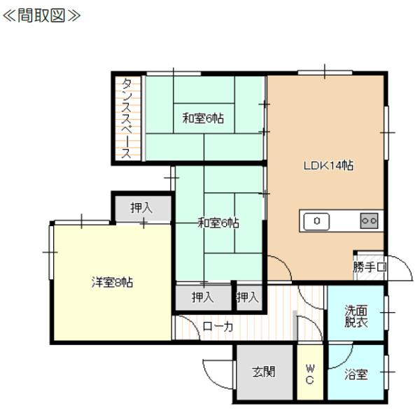 秋田県にかほ市平沢字館ヶ森10-1 賃貸 貸家 一戸建て 3LDK