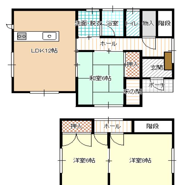 秋田県にかほ市平沢字平森92-5 賃貸 貸家 一戸建て 4DK