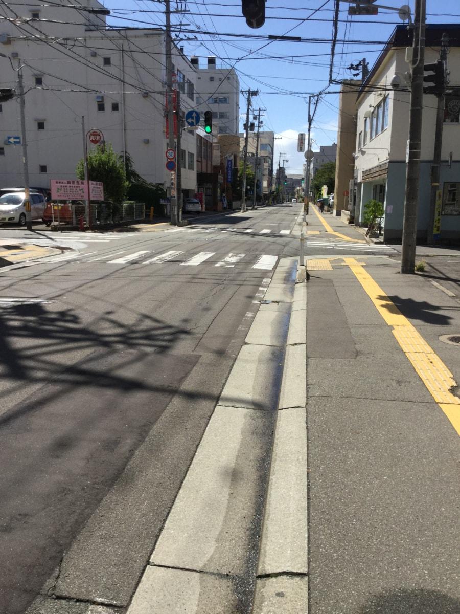 【秋田県・秋田市中通】土地 宅地|前面道路