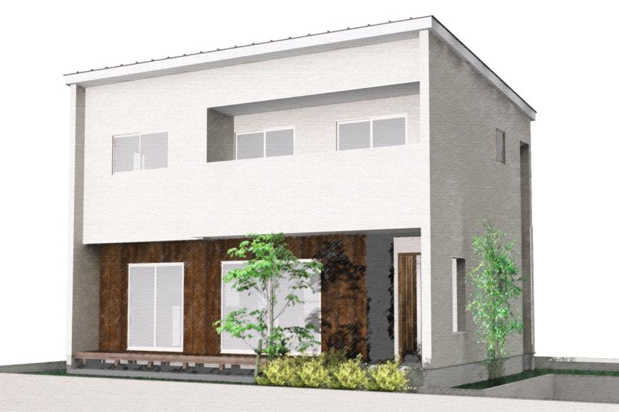 【秋田県・由利本荘市御門】2(3)LDK 新築戸建て・分譲住宅 外観パース