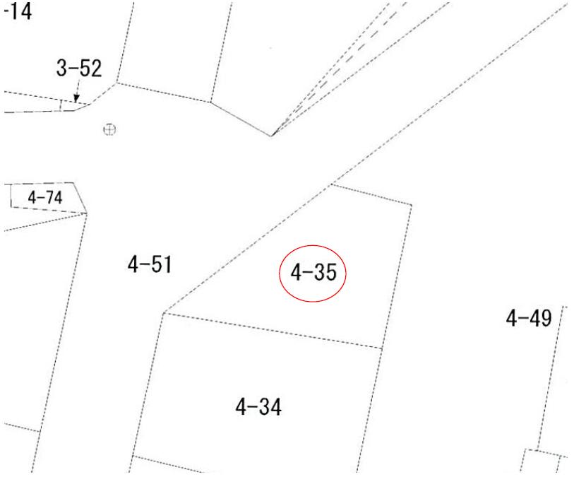 【秋田県・にかほ市象潟町字鳥の海】土地 宅地|No.N1033 公図