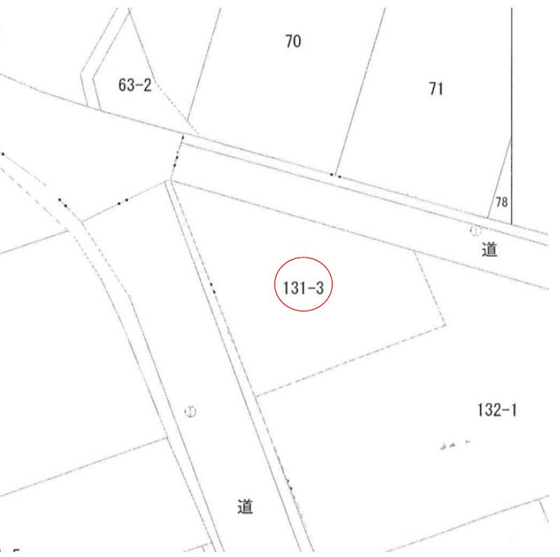 【秋田県・にかほ市平沢字清水尻】土地 宅地|No.N1032 公図