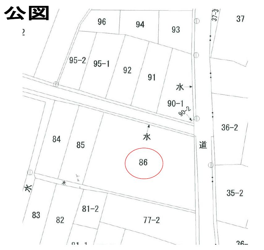 【秋田県・にかほ市院内字堀ノ前】土地 宅地 No.N1029 公図