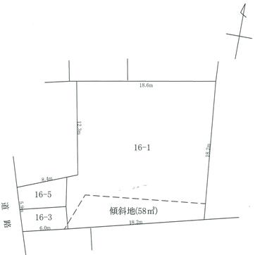 秋田県由利本荘市新組町 土地 宅地 H1005 土地略図