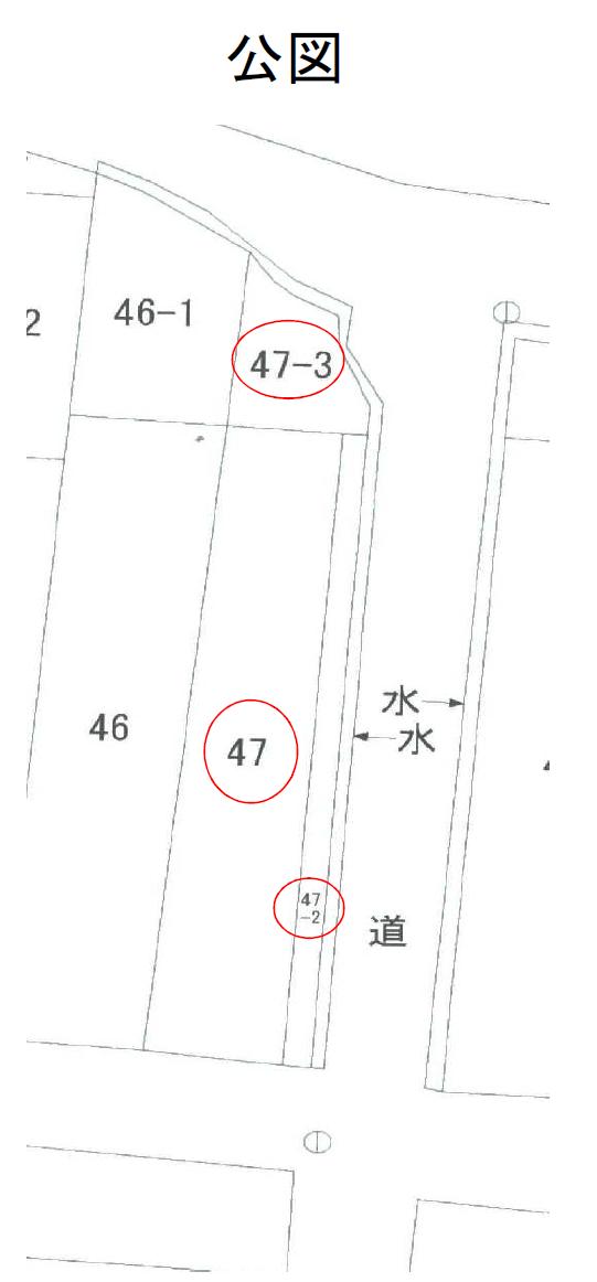 秋田県にかほ市平沢字上町 土地 宅地|N1036 公図