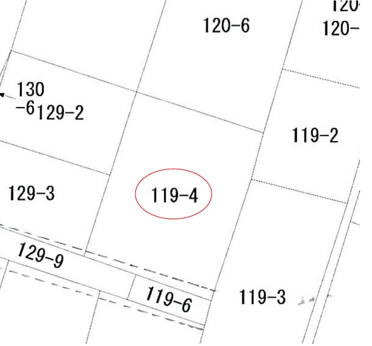 【秋田県・にかほ市平沢字新町】土地 宅地|No.N1030 公図