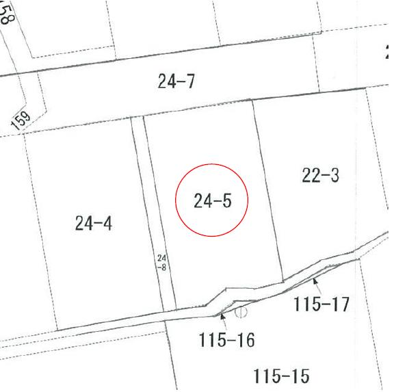 【秋田県・にかほ市平沢字鳥森】土地 宅地|No.N1035 公図