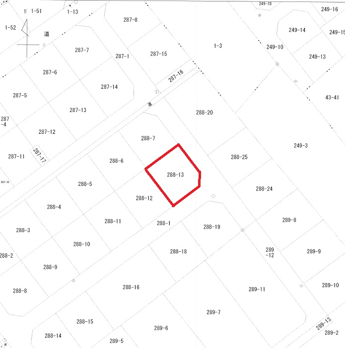 【秋田県・潟上市天王字棒沼台】土地 宅地 公図