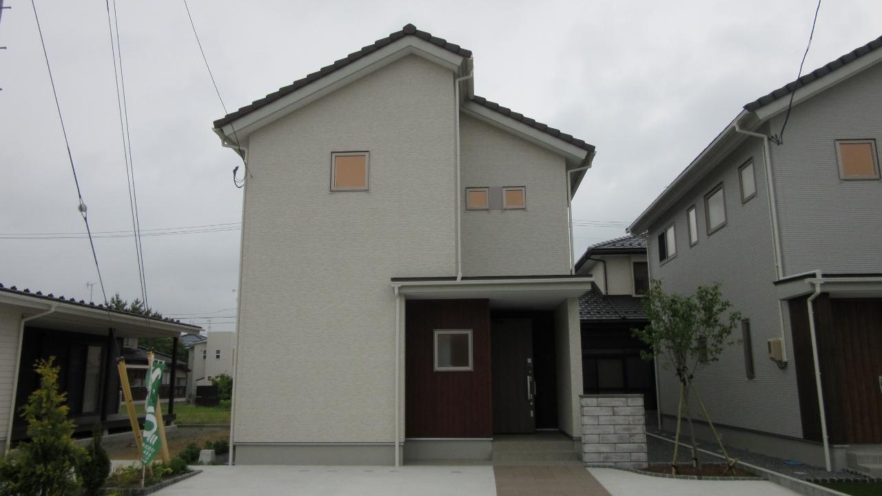 秋田県にかほ市象潟町字武道島 3LDK 新築戸建て 分譲住宅 外観写真