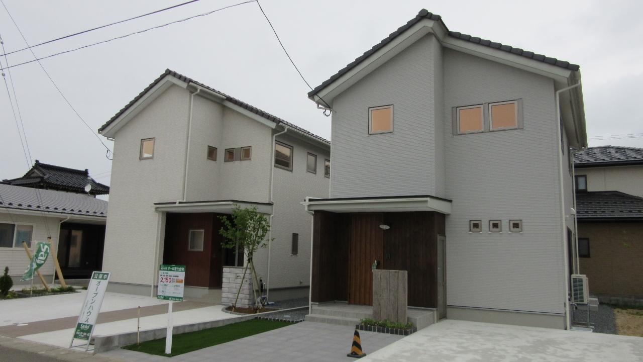 秋田県にかほ市象潟町字武道島 3LDK 新築戸建て 分譲住宅 外観