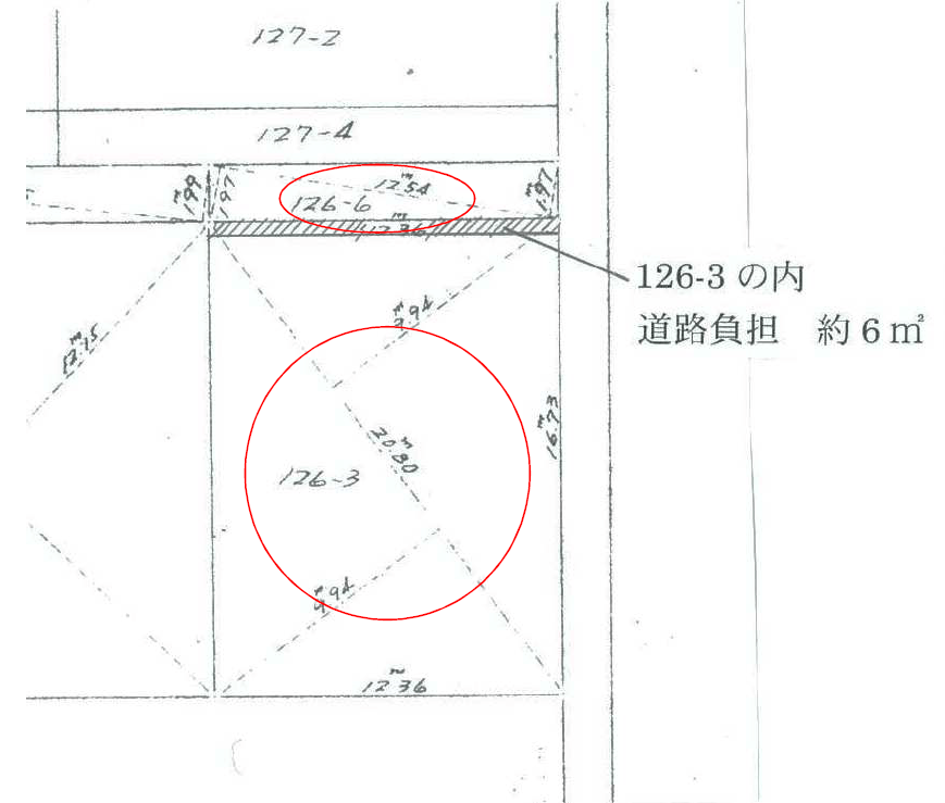 秋田県由利本荘市大鍬町 土地 宅地 見取り図│No.H1008