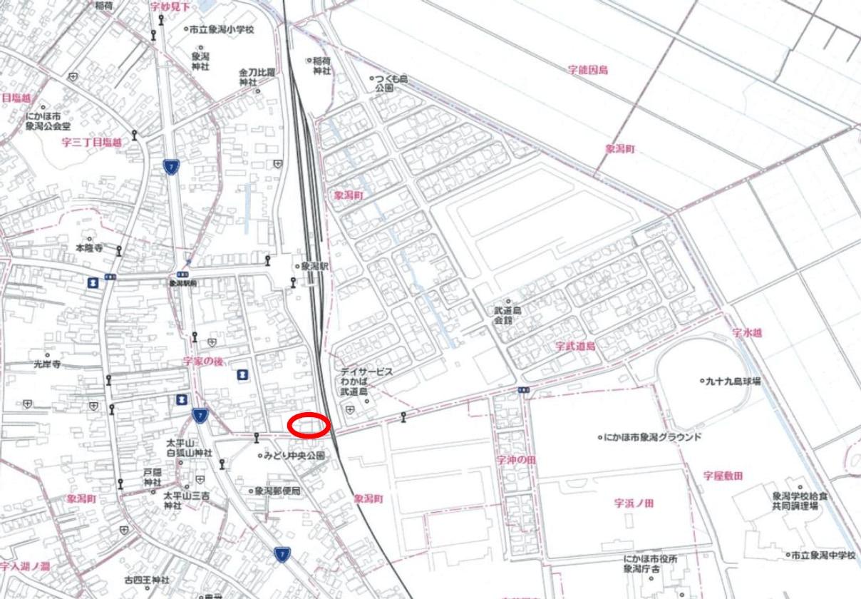 秋田県にかほ市象潟町字家ノ後 土地 分譲地 案内図