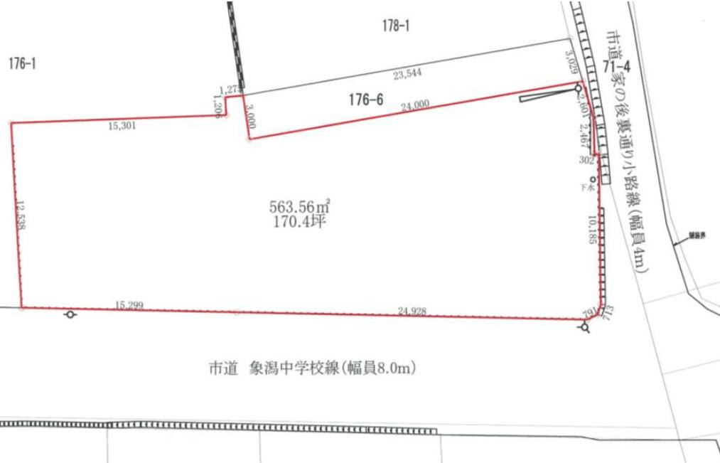秋田県にかほ市象潟町字家ノ後 土地 分譲地 見取図