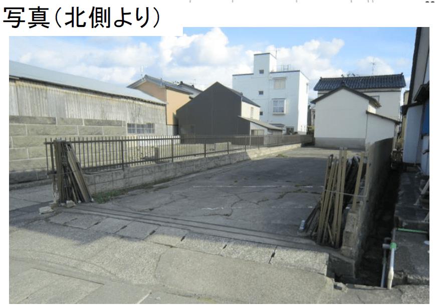 秋田県にかほ市平沢字上町 土地 宅地 No.N1038 現地外観写真(北側)