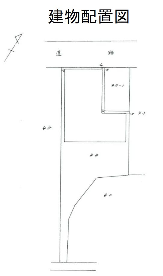 秋田県にかほ市平沢字中町 中古住宅 戸建て(工場) 9LDK N2015 建物配置図