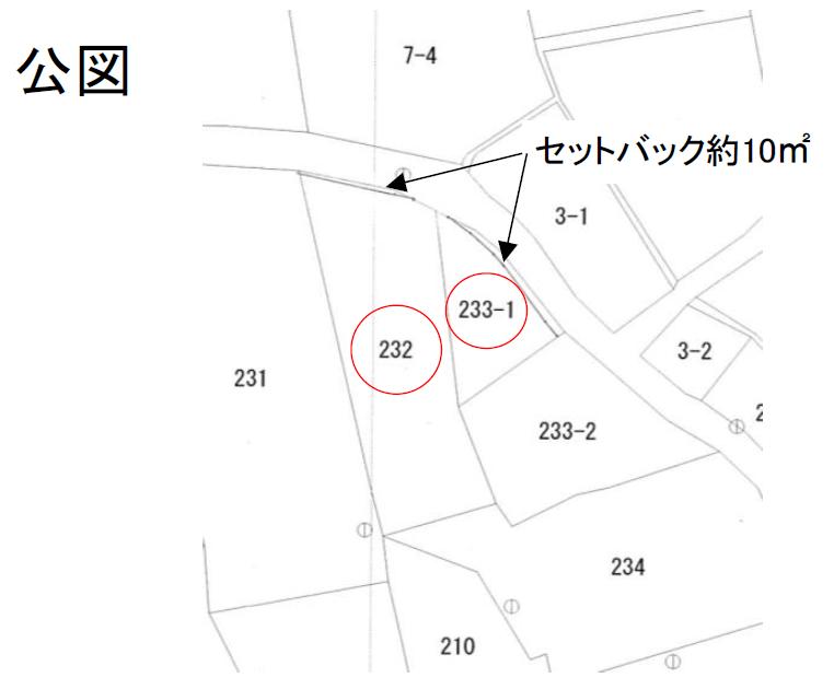 秋田県にかほ市平沢字前谷地 土地 宅地 No.N1039 公図