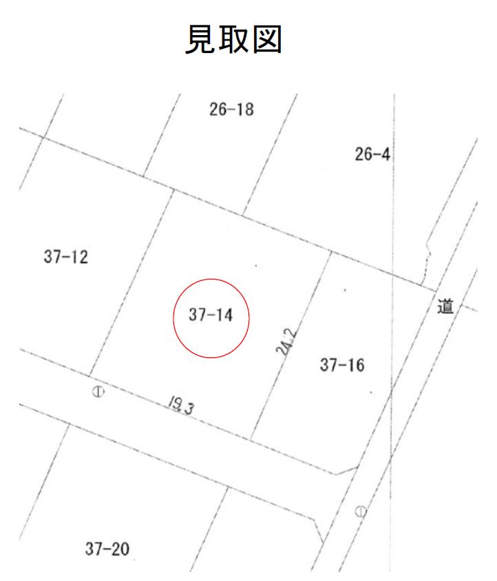 秋田県にかほ市象潟町字四隅池 土地 宅地 No.N1042 見取図