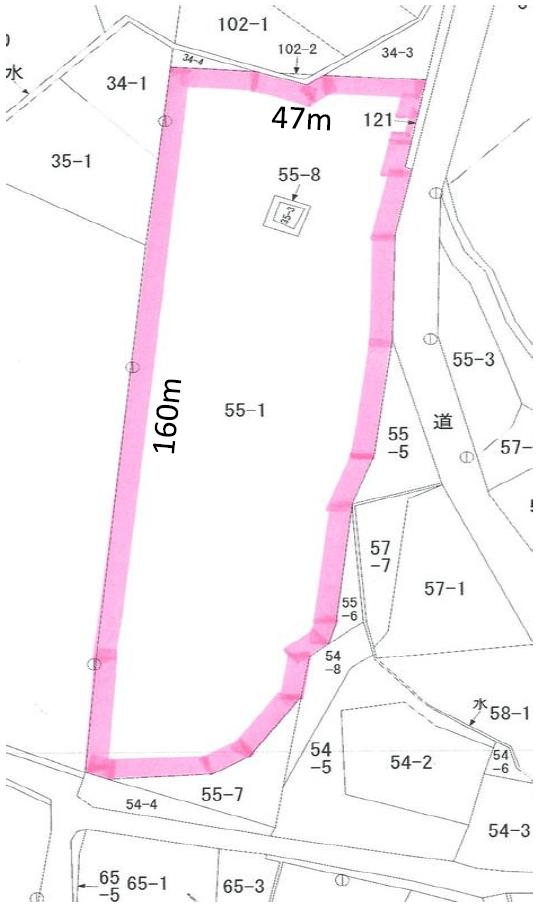 秋田県由利本荘市鳥海町 中古事務所 資材置場など H2014 公図