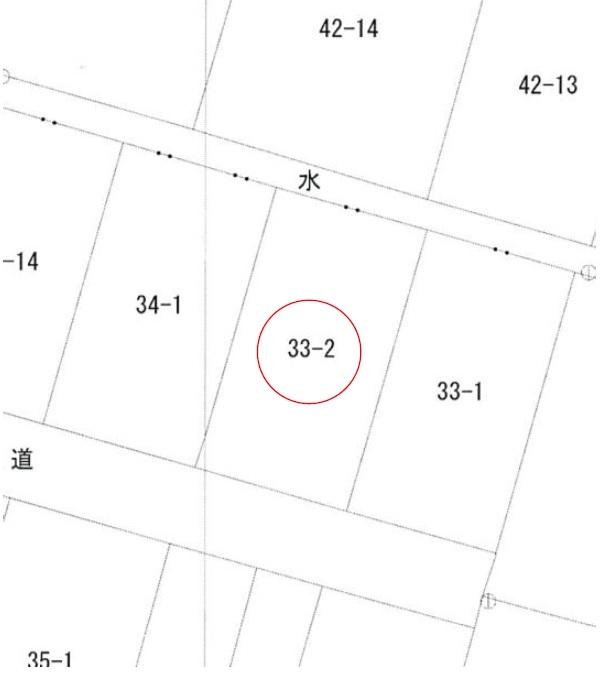 秋田県にかほ市平沢字樋ノ口 土地 分譲地|No.N1045 公図