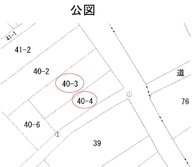 秋田県にかほ市平沢字中町 土地 公図 No.1053