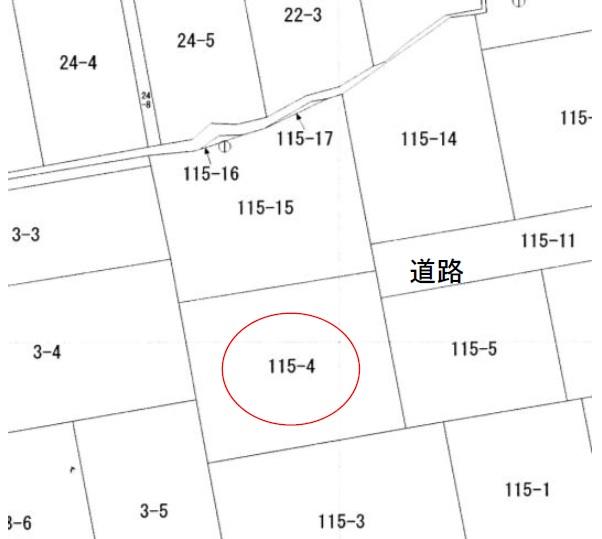 秋田県にかほ市平沢字鳥森 土地 宅地 No.1055 公図