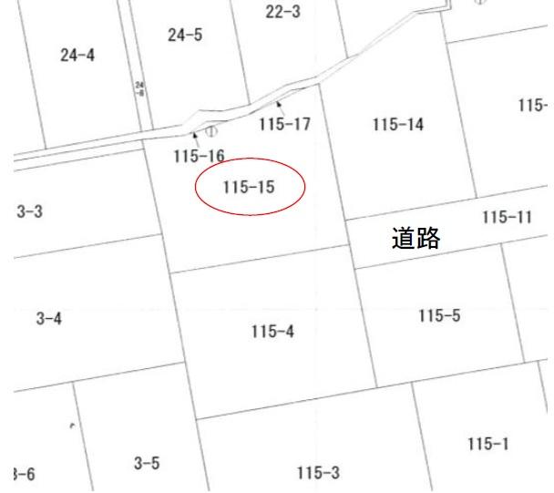 秋田県にかほ市平沢字鳥森 土地 宅地 No.1056 公図